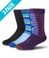 3 Pack - Athletic Dress Socks -  Select Your Colors