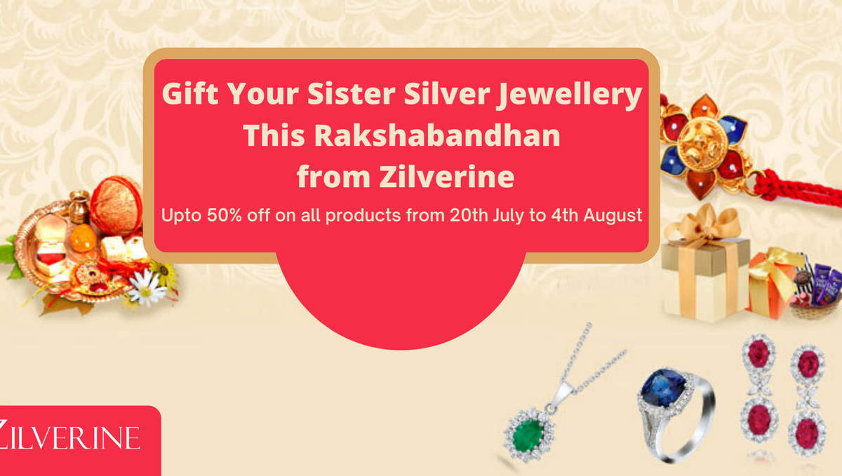 Gift Your Sister Silver Jewellery This Rakshabandhan from Zilverine