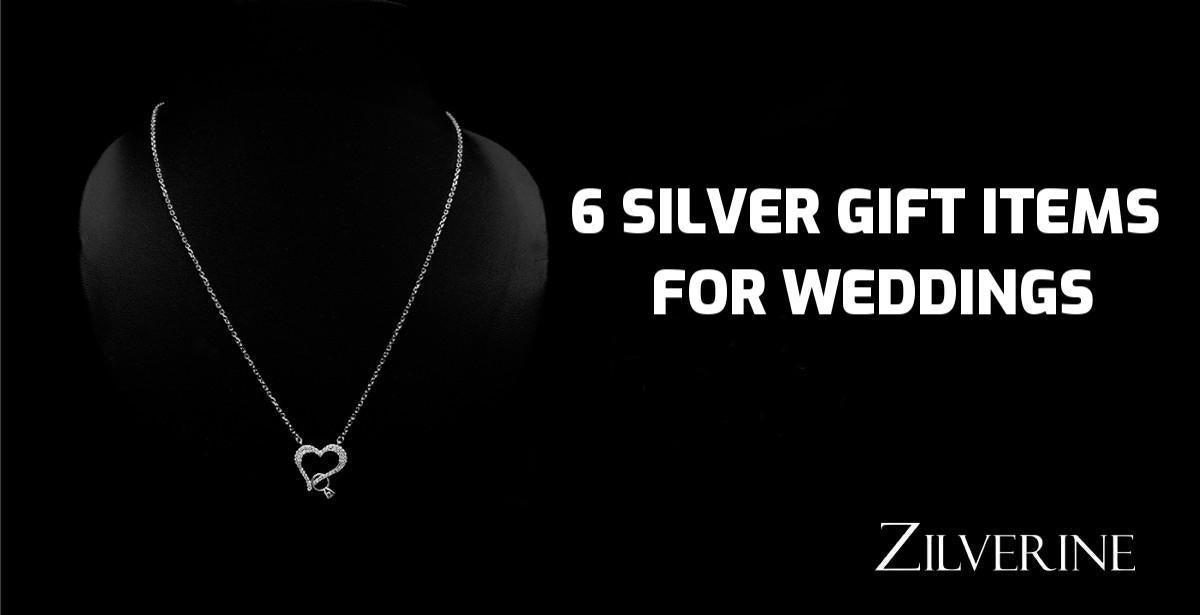 6 Attractive Silver Gift Items for Wedding