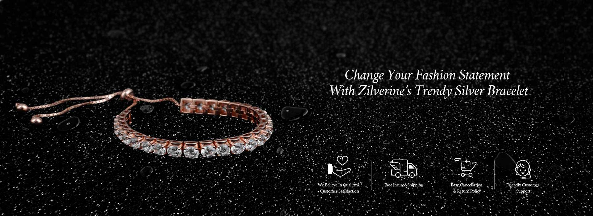Change Your Fashion Statement with Zilverine's Trendy Silver Bracelet