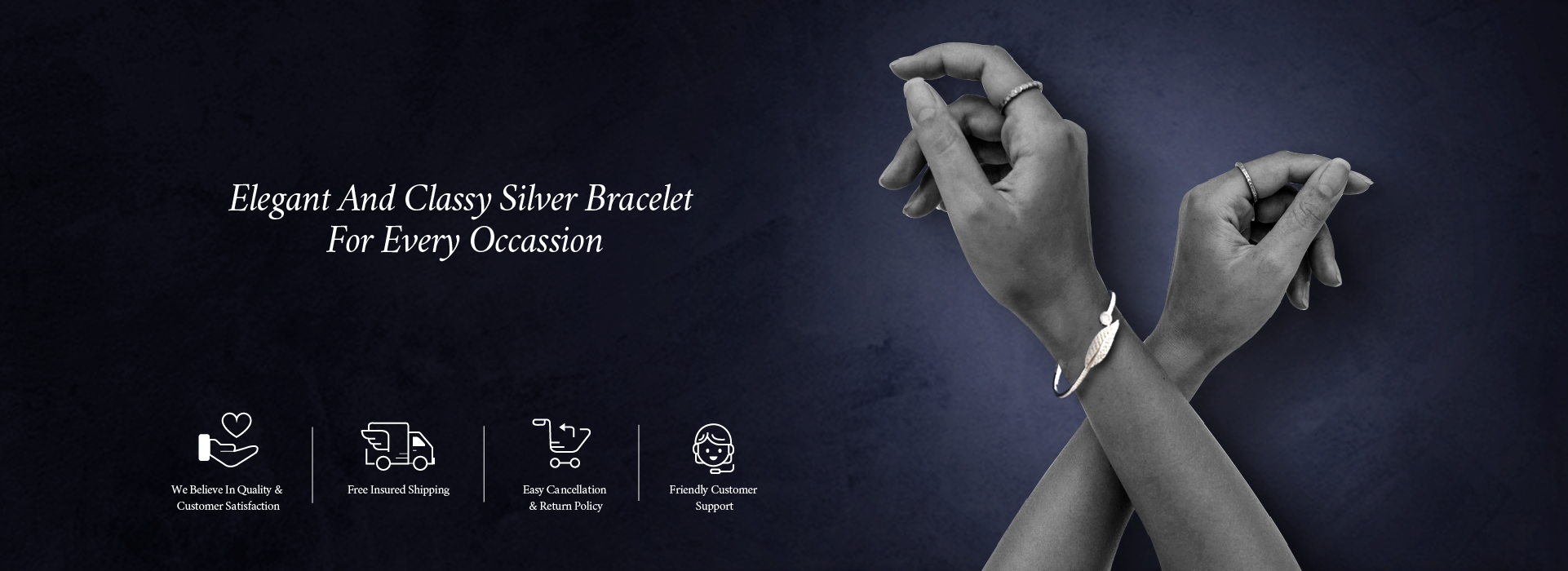Elegant and Classy Silver Bracelet for Every Occasion.
