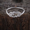 Silver Sparkling Love Ring