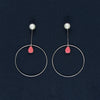 Round Shaped Dangles Earrings