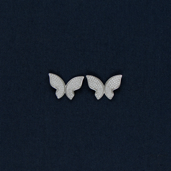 Butterfly Shaped Studded Earrings