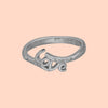 The Love Silver CZ Ring