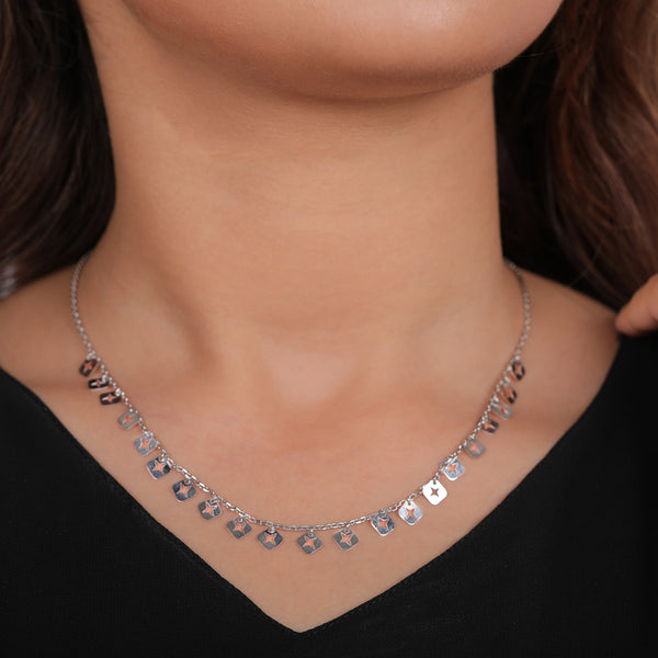 Isotoxal Square Star Necklace
