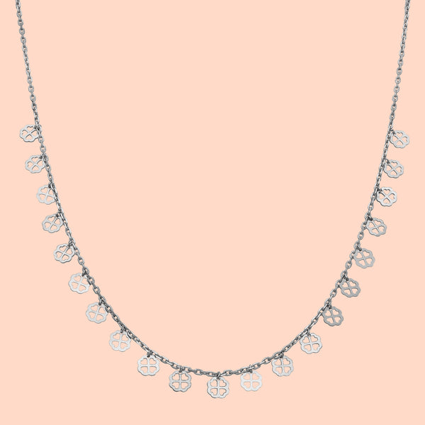 Floral Hearts Sterling Silver Necklace