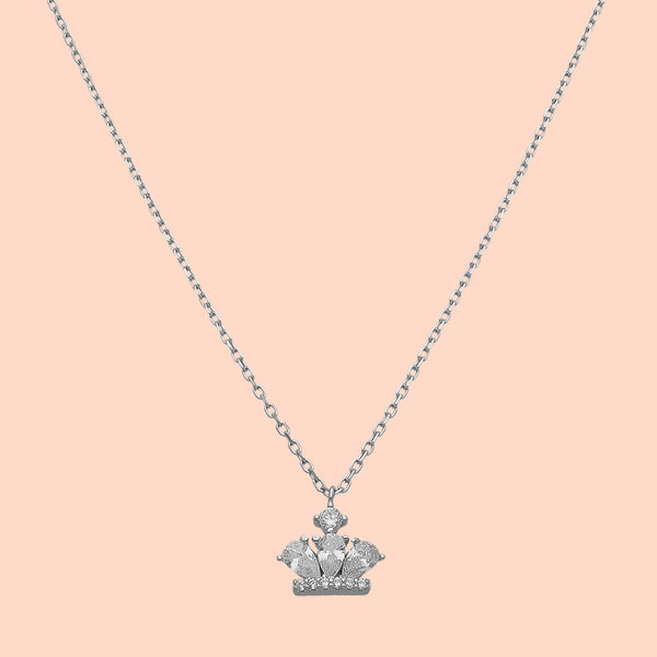 Minimal Crown Necklace