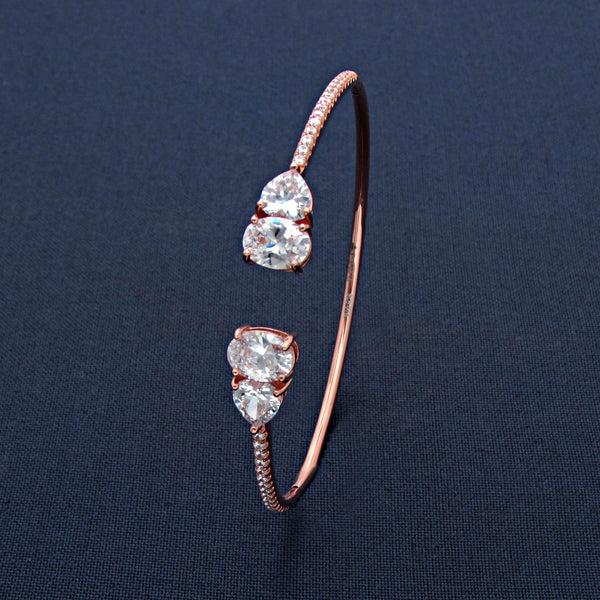 Elliptical Heartfelt Eternity Bracelet