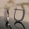 Diamond Silver Hoops