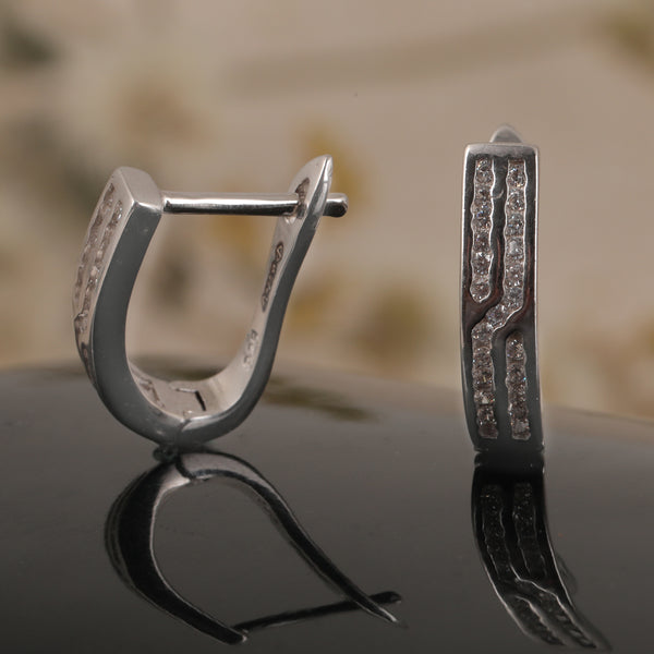 Double-striped Diamond Hoops