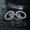 Zircon Butterfly Loop Earrings
