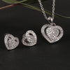 Zilverine Diamond Heart Set