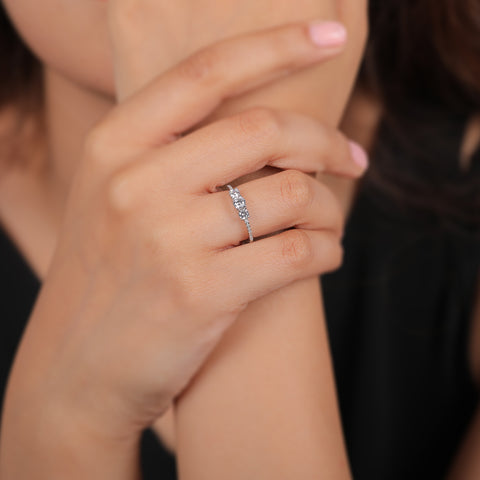 Triad Charm Ring