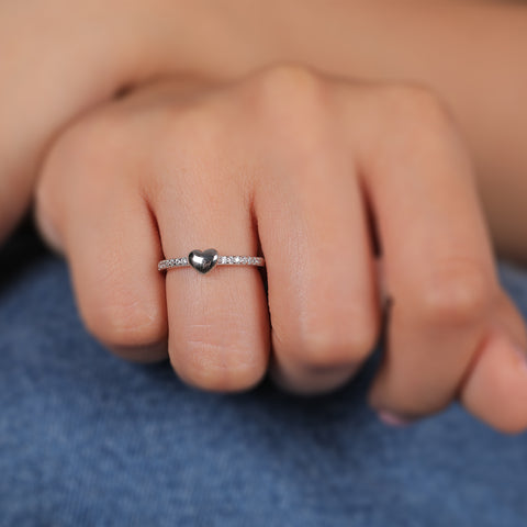 Zilverine Silver Heart Ring