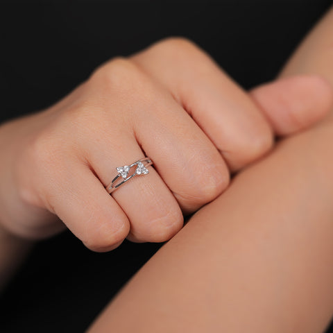 Twin Triangle Ring