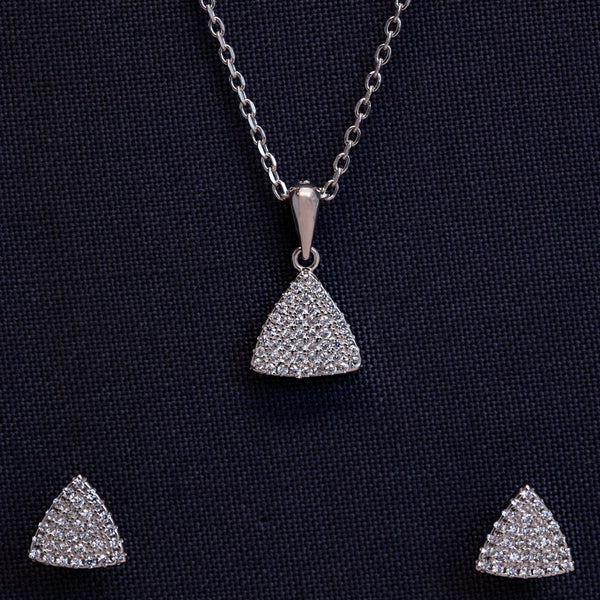 Zilverine Pyramid Set with Earrings