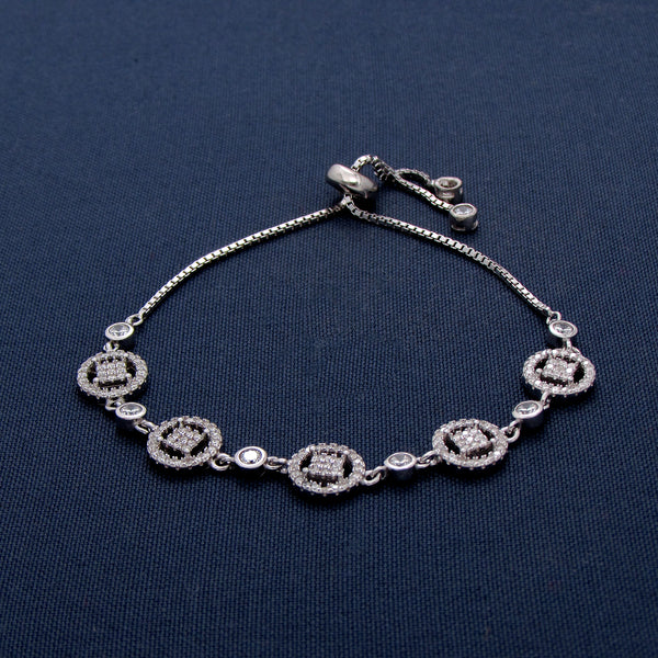 Silver Bracelet with Round-Shaped Designs