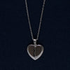 Heart Within a Heart Silver Pendant