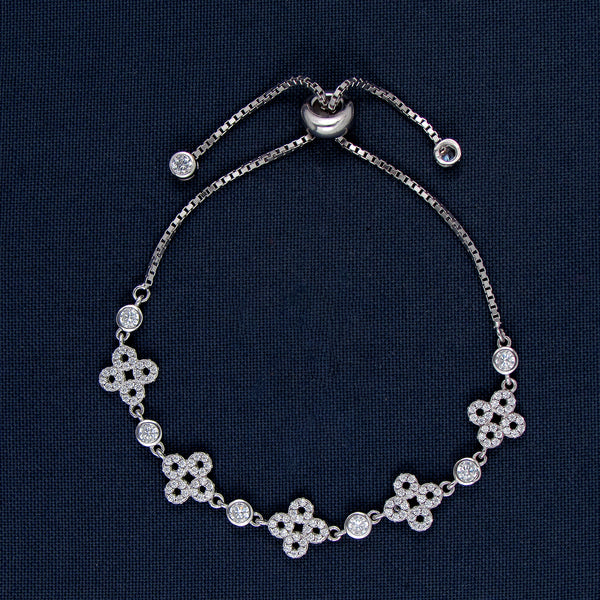 Silver Bracelet with Unique Round-Shaped Cross Designs