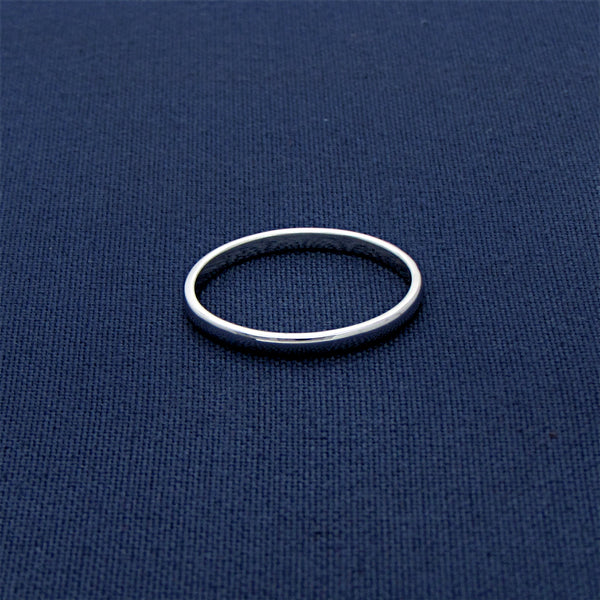 92.5 Unisex Sterling Silver Plain Band Ring