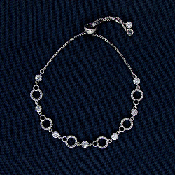 Silver Bracelet with Multiple Round Shapes