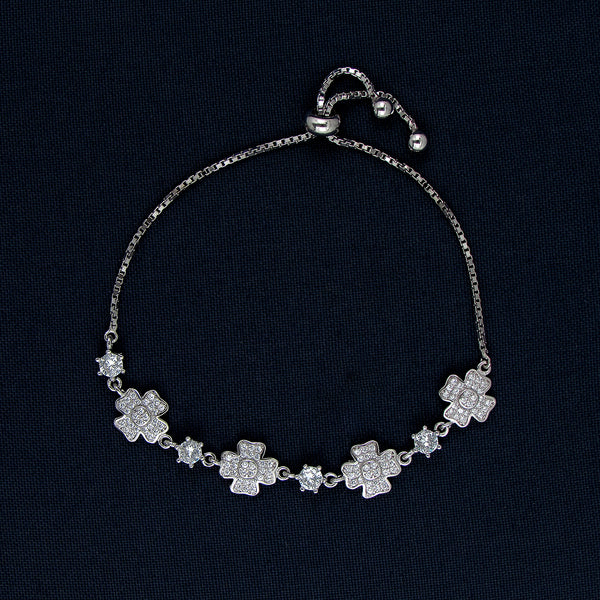 Silver Bracelet with Cross-Shaped Charms