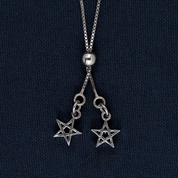 Silver Star Pendants on a Chain