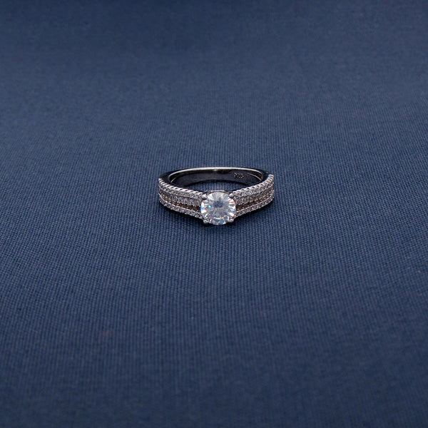 Triple-Band Sterling Silver Ring