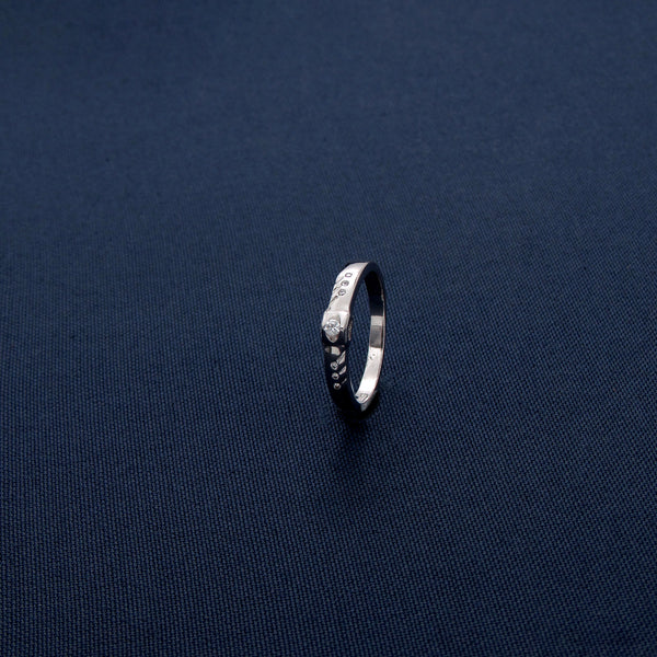 Sterling Silver Ring with a Precious Stone Inlay