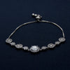 Silver Bracelet Inlaid with Round Gems