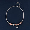 Rose Gold Dice With Beats Silver Charm Bracelet