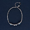 Maya Blue Crystals In The Line Of Sparkling Silver Bracelet