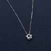 Star Shaped Flowery Sterling Silver Pendant Chain