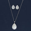 Dazzling Sparkling  Silver Tree in MOP Pendent Set