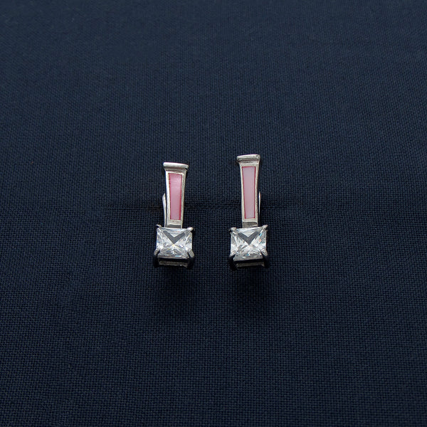 Blush And Blossom Pink Silver Earring