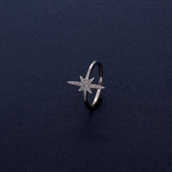 Inlaid Star Silver Ring