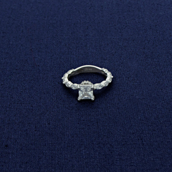 Diamond Band Sterling Silver Ring