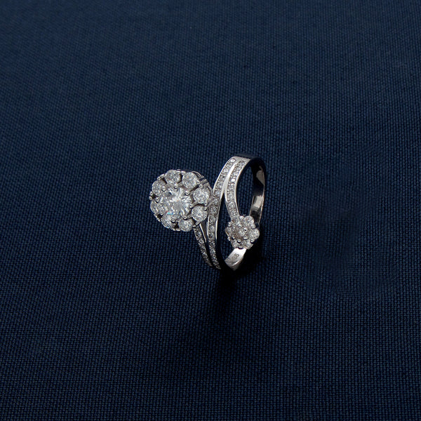 Two In One Round Halo Diamond Ring