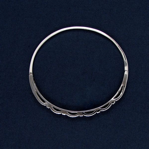 Sterling Silver Bracelet with Bumpy Designs