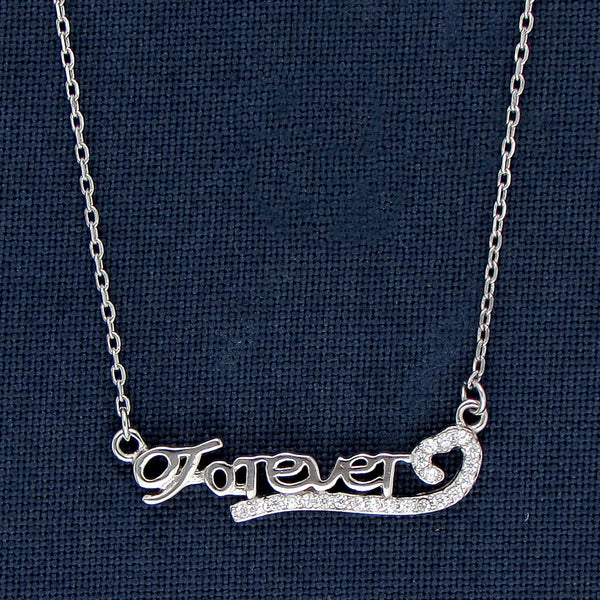 Happily Forever After Silver Pendant Chain