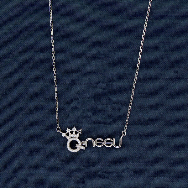 Queen Of Hearts Silver Pendant Chain