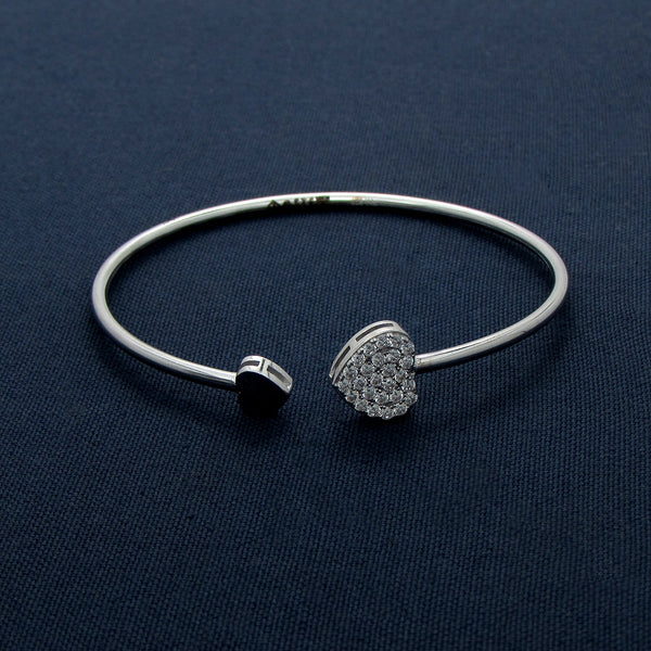 Double Your Love With Two Suave Hearts Bracelet