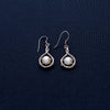 Small Silver Encased Round Earrings