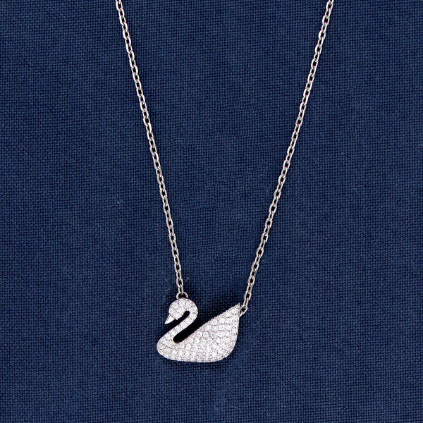 One Of A Kind Swan Silver Pendant
