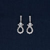 Sterling Silver Studded Circle Shaped Earring