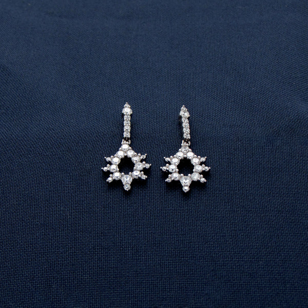Star Studded Silver Earrings