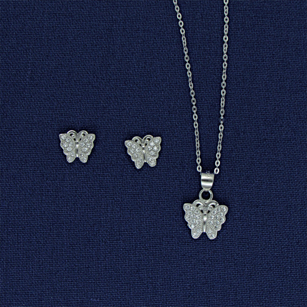 Sterling Silver Butterfly Set