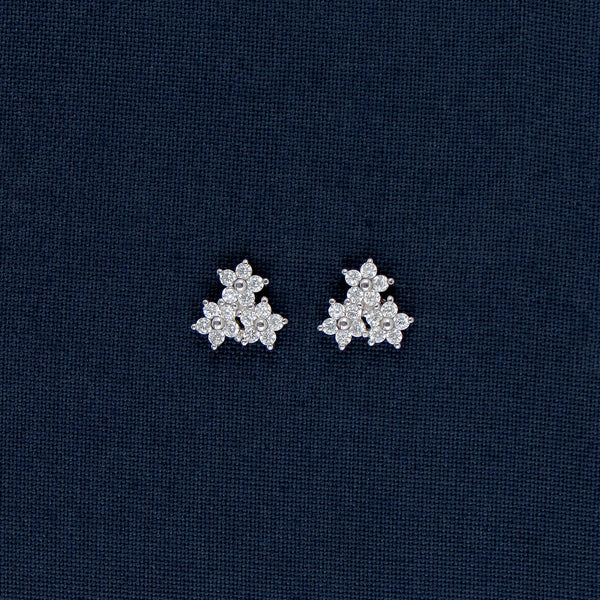 Tiny Star-Shaped Sterling Silver Earrings