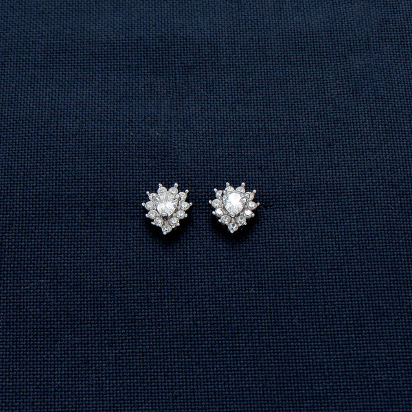 Tear-Shaped Earrings Lined with Sparkling Stones